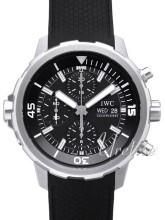 IWC Aquatimer Chronograph Sort/Gummi