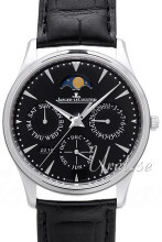 Jaeger LeCoultre Master Ultra Thin Sort/Lær Ø39 mm