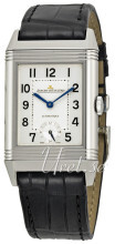 Jaeger LeCoultre Grande Reverso Night & Day Stainless Steel Sølv
