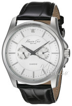 Kenneth Cole Genuine Diamond Sølvfarget/Lær Ø44 mm