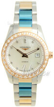 Longines Conquest Ladies Hvit/18 karat rosé gull Ø29.5 mm