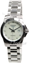 Longines Conquest Ladies Hvit/Stål Ø29.5 mm