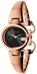 Gucci Guccissima Sort/Rose-gulltonet stål Ø27 mm YA134509