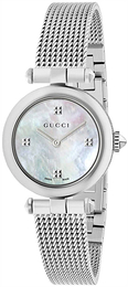 Gucci Diamantissima Hvit/Stål Ø27 mm YA141504