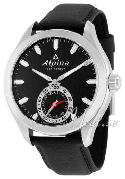 Alpina Horological Smartwatch Sort/Lær