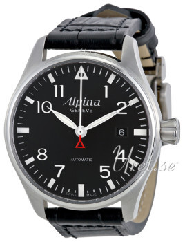 Alpina Startimer Sort/Lær Ø40 mm