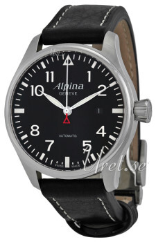 Alpina Startimer Sort/Lær Ø44 mm