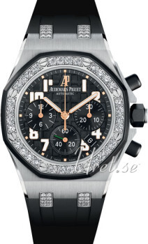 Audemars Piguet Royal Oak Sort/Gummi