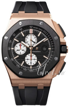 Audemars Piguet Royal Oak Offshore Sort/Gummi