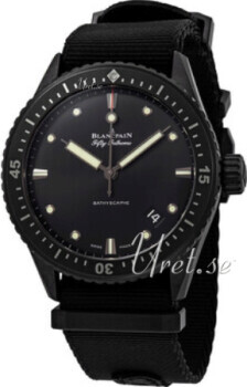 Blancpain Fifty Fathoms Sort/Stål