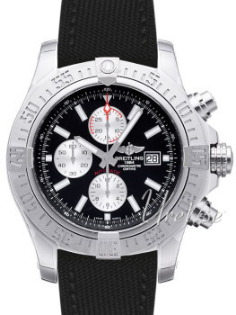 Breitling Super Avenger II Sort/Tekstil