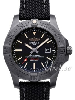 Breitling Avenger Blackbird Sort/Tekstil