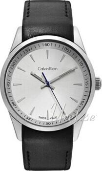 Calvin Klein Bold Sølvfarget/Lær Ø41 mm