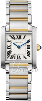 Cartier Tank Francaise Sølvfarget/18 karat gult gull