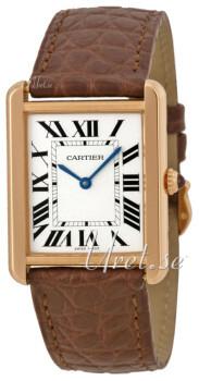 Cartier Tank Solo Sølvfarget/Lær