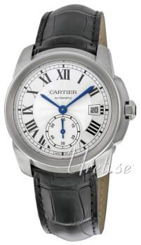 Cartier Calibre De Cartier Sølvfarget/Lær Ø38 mm