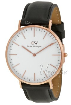 Daniel Wellington Classic Sheffield Antikk hvit/Lær Ø40 mm