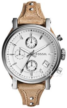 Fossil Hvit/Lær
