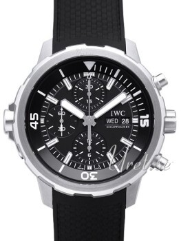 IWC Aquatimer Chronograph Sort/Gummi