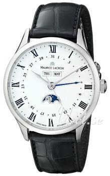 Maurice Lacroix Masterpiece Hvit/Lær