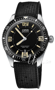 Oris Diving Sort/Gummi Ø40 mm