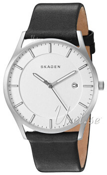 Skagen Holst Hvit/Lær Ø40 mm