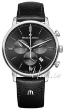 Maurice Lacroix Eliros Chronograph Sort/Lær