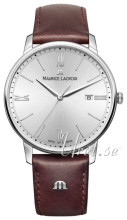 Maurice Lacroix Eliros Date Sølvfarget/Lær Ø40 mm