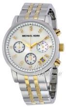 Michael Kors Chronograph Hvit/Gulltonet stål
