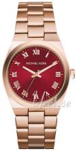 Michael Kors Rød/Rose-gulltonet stål