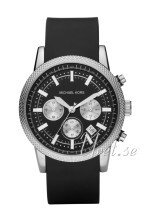 Michael Kors Chronograph Sort/Gummi