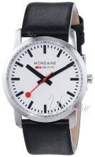 Mondaine Simply Elegant Hvit/Lær Ø36 mm
