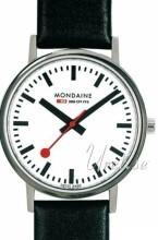 Mondaine Hvit/Lær Ø36 mm