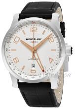 Montblanc Timewalker Sølvfarget/Lær Ø42 mm