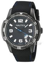Nautica Analog Sort/Gummi Ø43 mm
