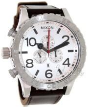 Nixon The 51-30 Leather Hvit/Lær Ø51 mm