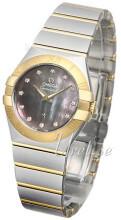 Omega Constellation Quartz 27mm Grå/18 karat gult gull