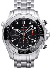Omega Seamaster Diver 300m Co-Axial Chronograph 41.5mm Sort/Stål