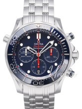 Omega Seamaster Diver 300m Co-Axial Chronograph 44mm Blå/Stål