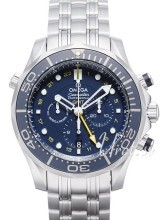 Omega Seamaster Diver 300m Co-Axial GMT Chronograph 44mm Blå/Stå