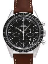 Omega Speedmaster Moonwatch Numbered Edition 39.7mm Sort/Lær