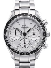 Omega Speedmaster Racing Co-Axial Chronograph 40mm Hvit/Stål