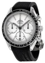Omega Speedmaster Racing Co-Axial Chronograph 40mm Hvit/Gummi