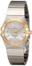 Omega Constellation Quartz 27mm Sølvfarget/18 karat gult gull