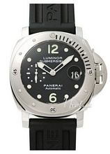 Panerai Contemporary Luminor Submersible Sort/Gummi Ø44 mm