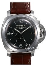 Panerai Contemporary Luminor 1950 10 Days GMT Sort/Lær Ø44 mm
