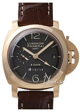 Panerai Historic Luminor 1950 8 Days GMT Sort/Lær Ø44 mm
