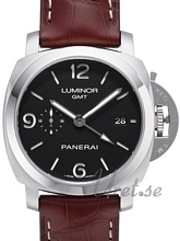 Panerai Contemporary Luminor 1950 3 Days GMT Automatic Sort/Lær