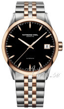 Raymond Weil Freelancer Sort/Rose-gulltonet stål Ø42.5 mm