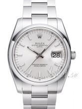 Rolex Perpetual Date Sølvfarget/Stål Ø34 mm